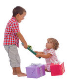 Receiving the presents — Stock Photo