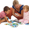 Stock Photo: Happy family playing