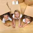 Unpacking in a new home — Stock Photo