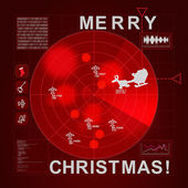 Santa caught on radar - it is Christmas time — Stock Vector