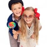 Kids in retro clothes — Stock Photo #6739903