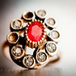 Vintage jewel - Stock Photo