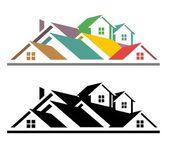 недвижимость значок — Стоковое фото
