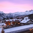 Foto Stock: Ski resort in France
