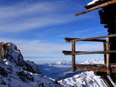 A balcony to the Alps — Stock Photo