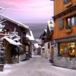 Le Praz, a village in the Alps — Stock Photo
