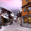 Le Praz, a village in the Alps - Stock Photo