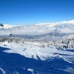 Ski lift in the Alps — Stock Photo