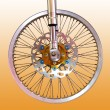 Bicycle wheel — Stok fotoğraf