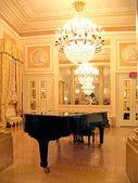 Ballroom with Grand piano — Stock Photo