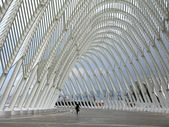 Arcade moderno no estádio olympique em atenas — Foto Stock