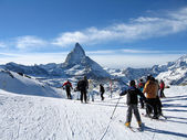 The Matterhorn summit in the Alps — 图库照片