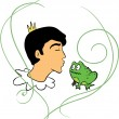 Royalty-Free Stock Vector Image: Prince kisses frog