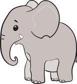 Cute little elephant cartoon character — Stock Vector