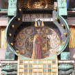 Постер, плакат: Anker clock in Vienna Austria