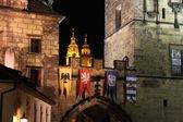 Prague urban scenics by night — Stock Photo