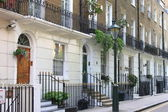 Townshouses in London — Stock Photo