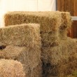Hay bales inside a barn — Stock Photo