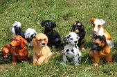 Dog statues — Stock Photo