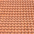 Stock Photo: Red roof clay tiles