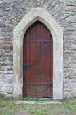 средневековый входная дверь в праге — Стоковое фото