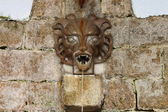 Medieval wall fountain — Foto Stock