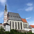 Saint Vitus church in Cesky Krumlov - Stock Photo
