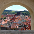 vue panoramique de cesky krumlov — Photo #6613698