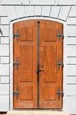 Medieval front door in Prague — Stock Photo