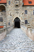 Main entrance of Bouzov castle — ストック写真