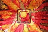 Colorful glass dish — Stockfoto