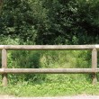 Ranch wooden fence — Stock Photo