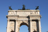 Arch of Peace in Milan — Stock Photo