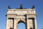 Boog van vrede in milaan — Stockfoto