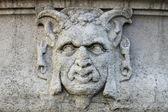 Satyr mask basrelief — Stock Photo