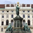 Emperor Franz I statue — Stock Photo