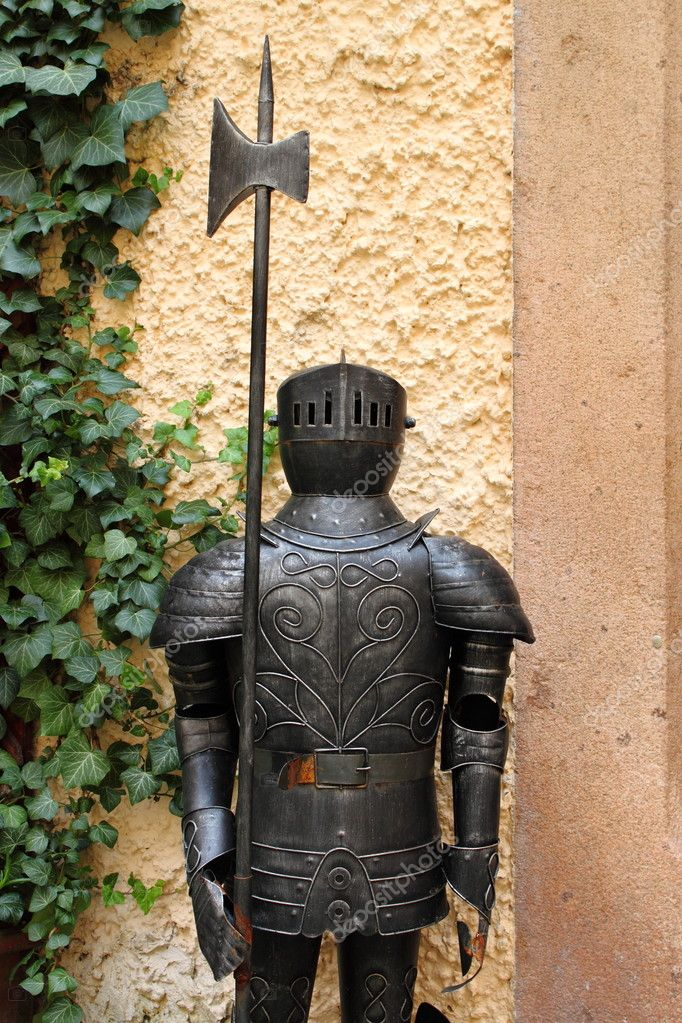Medieval armor with halberd  Stock Photo #6722363
