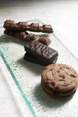 Chocolate and Biscuits — Stock Photo