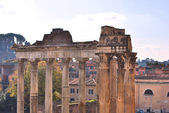Roman Forum (Portico Di Consentes) — Stock Photo