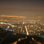 Turin night landscape from Superga — Stock Photo #6599392