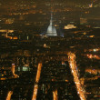 Stock Photo: Turin night landscape from Superga