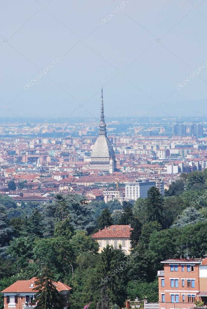 Turin is a city located mainly on the left bank of the Po River surrounded by the Alpine arch. — Stock Photo #6599671