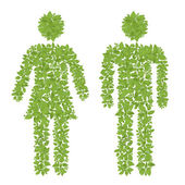 Green plant male and female icon — Stock Photo