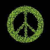 Green plant peace symbol — Stock Photo