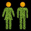 Green plant Male and Female symbol — Stock Photo