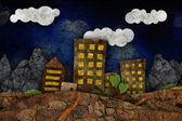 Illustrazione del paesaggio urbano — Foto Stock