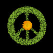 Green plant peace symbol — Stock Photo #6743506