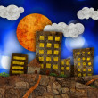 Urban landscape illustration — Stock Photo