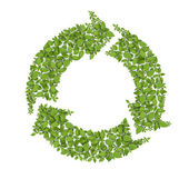 Grass Recycle Symbol — Stock Photo