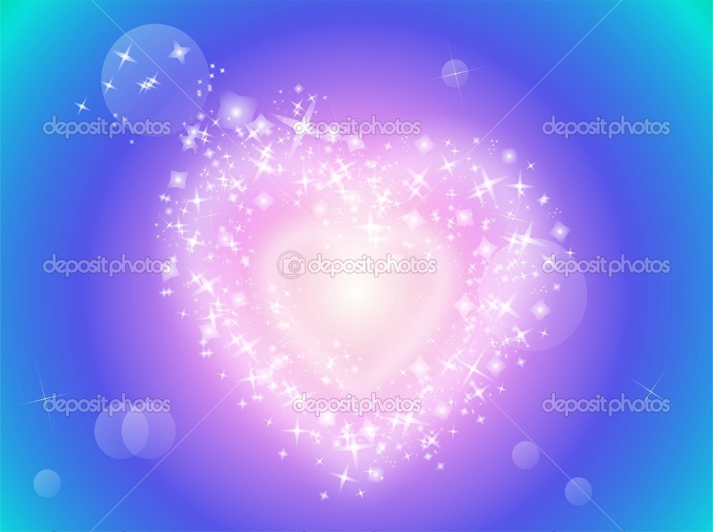 Illustration of heart made of sparkling star — Stock Vector #6522292